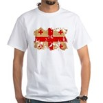 Georgia Flag White T-Shirt