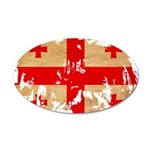 Georgia Flag 38.5 x 24.5 Oval Wall Peel