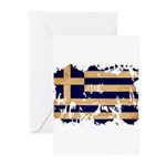 Greece Flag Greeting Cards (Pk of 20)