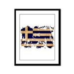 Greece Flag Framed Panel Print