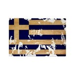 Greece Flag Rectangle Magnet