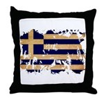Greece Flag Throw Pillow