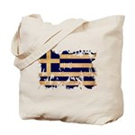 Greece Flag Tote Bag