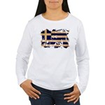 Greece Flag Women's Long Sleeve T-Shirt