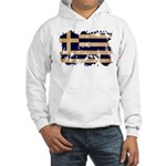 Greece Flag Hooded Sweatshirt