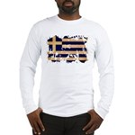 Greece Flag Long Sleeve T-Shirt