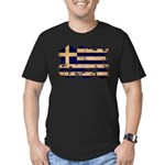 Greece Flag Men's Fitted T-Shirt (dark)