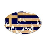 Greece Flag 38.5 x 24.5 Oval Wall Peel