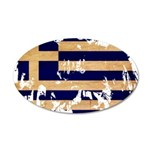 Greece Flag 22x14 Oval Wall Peel