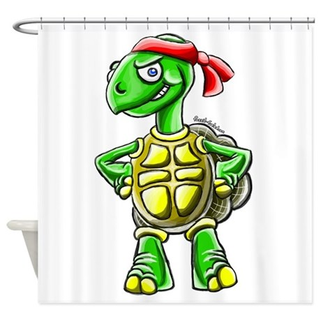 Ninja Turtle Tortoise Shower Curtain By Ninjatortoise