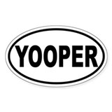 Yooper Oval Sticker (B&amp;W)