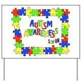 Puzzle Frame Autism Aware Yard Sign