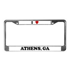 I Love Athens License Plate Frame