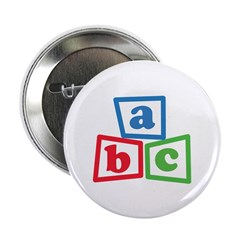 "ABC Blocks 2.25"" Button (10 pack)"