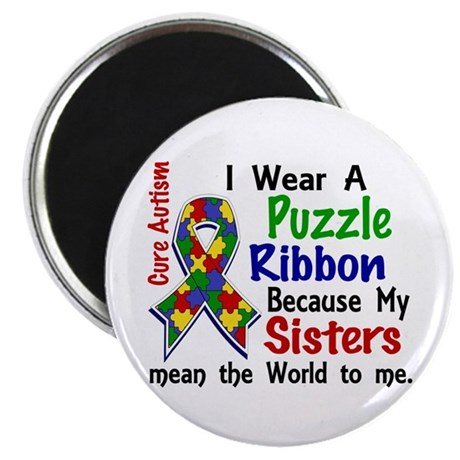 "Means World To Me 4 Autism 2.25"" Magnet (100 pack)"