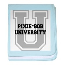 Pixie-Bob UNIVERSITY baby blanket
