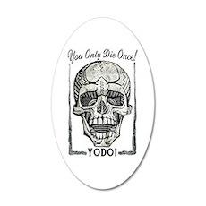YODO Skull 22x14 Oval Wall Peel