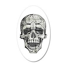 YOLO Skull 22x14 Oval Wall Peel