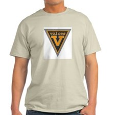 Ash Grey Voices Shield T-Shirt