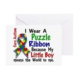 Means World To Me 4 Autism Greeting Cards (Pk of 2