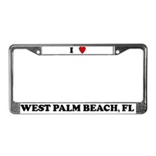 I Love West Palm Beach License Plate Frame