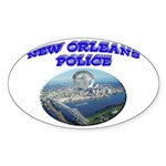 NOPD Badge in the Sky Sticker (Oval)