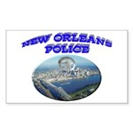 NOPD Badge in the Sky Sticker (Rectangle)