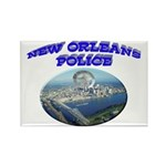 NOPD Badge in the Sky Rectangle Magnet
