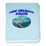 NOPD Badge in the Sky baby blanket