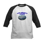 NOPD Badge in the Sky Kids Baseball Jersey