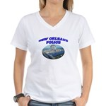 NOPD Badge in the Sky Women's V-Neck T-Shirt