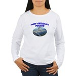 NOPD Badge in the Sky Women's Long Sleeve T-Shirt