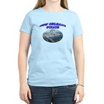 NOPD Badge in the Sky Women's Light T-Shirt