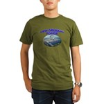 NOPD Badge in the Sky Organic Men's T-Shirt (dark)