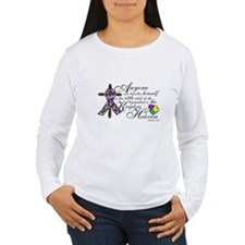 Autism ribbon with Cross T-Shirt