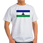 New Lesotho Flag Blank Ash Grey T-Shirt
