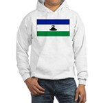 New Lesotho Flag Blank Hooded Sweatshirt