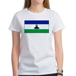 New Lesotho Flag Blank Women's T-Shirt