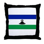New Lesotho Flag Blank Throw Pillow