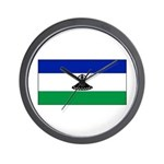 New Lesotho Flag Blank Wall Clock