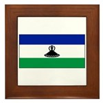 New Lesotho Flag Blank Framed Tile