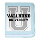 Vallhund UNIVERSITY baby blanket