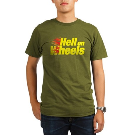 hell on wheels Organic Men's T-Shirt (dark)
