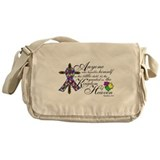 Autism ribbon with Cross Messenger Bag