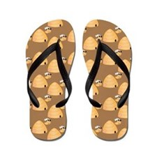 Honey Bee and Hive Flip Flops