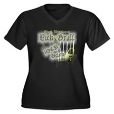 Ghost Advent Women's Plus Size V-Neck Dark T-Shirt