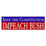 Constitution: Impeach Bush bumper sticker