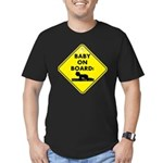 Baby On Board Men's Fitted T-Shirt (dark)