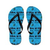 Autism Awareness Butterfly Flip Flops