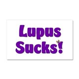 Lupus Sucks! Car Magnet 20 x 12